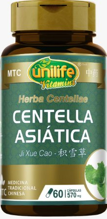 Centella Asiática - Ji Xue Cao - MTC - 570MG - 60 CAPS
