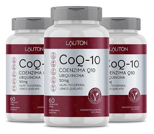 Kit com 3 Coenzima Q10 - 100mg - 180 Caps - Lauton