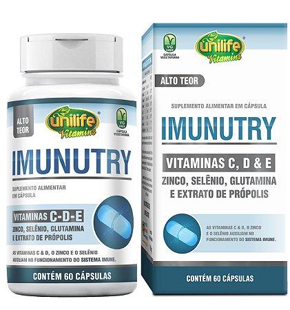Imunutry - Vitamina C, E, D, Zinco, Selênio e Própolis - Unilife