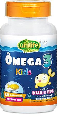 Omega 3 Kids Rico em Dha e Epa (500mg) 60 Cápsulas - Unilife
