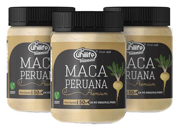 Farinha de Maca Peruana - Kit com 3 - 450g - Unilife