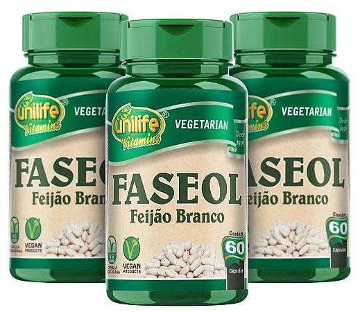 Faseol - Feijão Branco - Kit com 3 - 180 Cápsulas (500mg) - Unilife