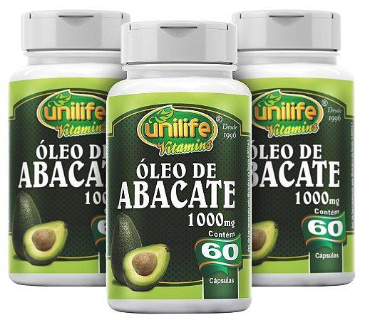 Óleo de Abacate - Kit com 3 - 180 Caps (1200mg) - Unilife