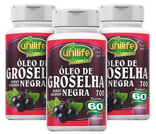 Óleo de Groselha Negra - Kit com 3 - 180 Caps de (700mg) - Unilife