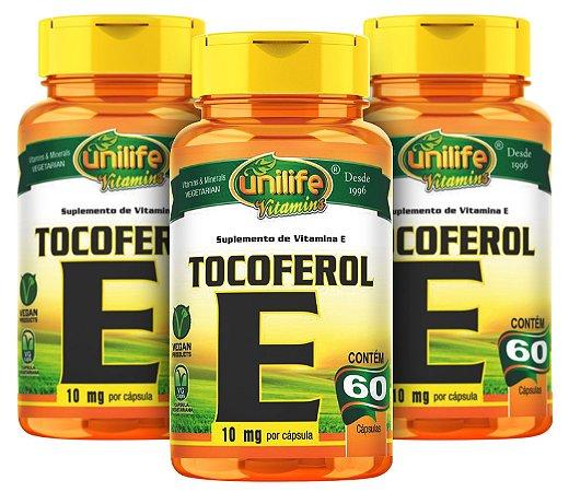 Vitamina E Tocoferol - Kit com 3 -  180 Caps (1000mg) - Unilife