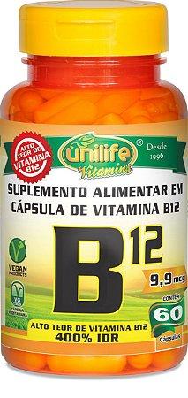 CianoCobalamina B12 Vitamina 60 caps - Unilife