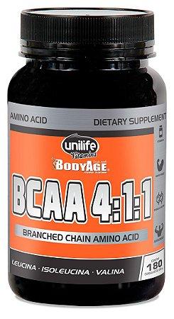 BCAA Unilife Bodyage 180 Cápsulas (630mg)