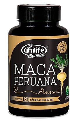 Maca Peruana Unilife 100% Pura - 120 cápsulas