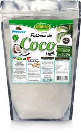 Farinha de Coco Pura Light (300g) - Unilife