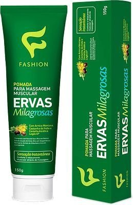 Pomada P/ Massagem Muscular Ervas Milagrosas Fashion