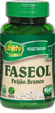 Faseol - Feijão Branco 60 Cápsulas (500mg) - Unilife
