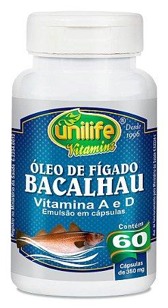 Óleo de Fígado de Bacalhau Unilife 60 Cápsulas (350mg)
