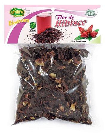 Flor de Hibisco para Chá 100g - Unilife