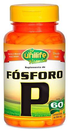 Fósforo P Unilife 60 cápsulas de (600mg) - Unilife