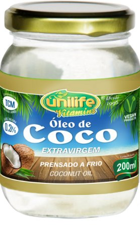Óleo de Coco Extra Virgem (200ml) - Unilife