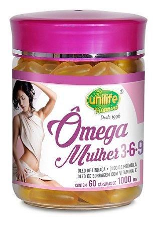 Omega 3 Mulher Com Omega 6 e 9 Unilife 60 Capsulas