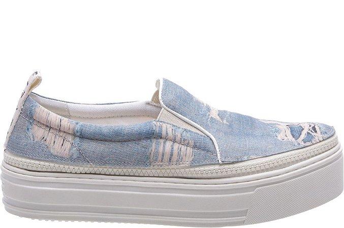 Tênis Ziper Malibu Jeans Sola Alta