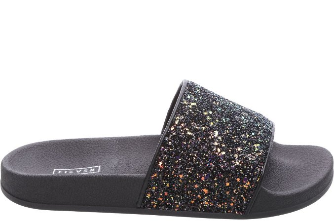 Slider Glitter Space Galaxy Preta
