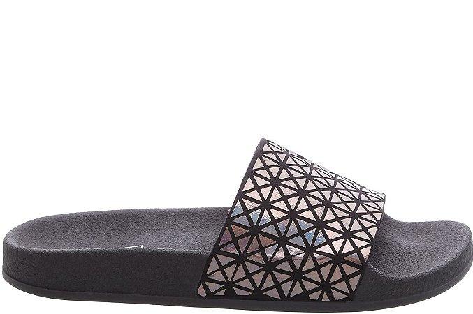 Slider Mosaico Holográfico Preta