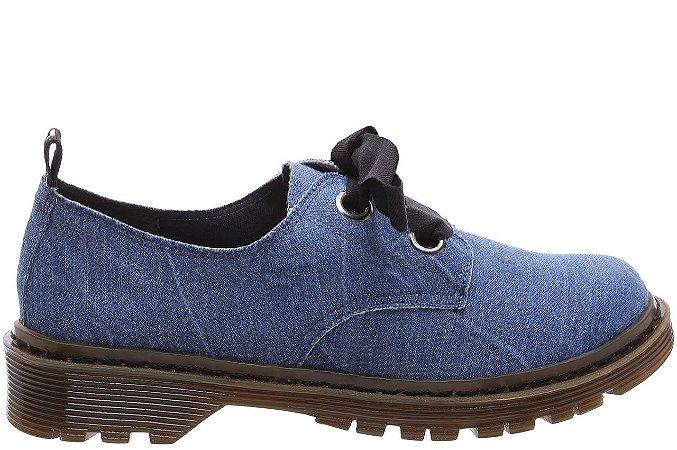 Oxford Jeans Crimp Desfiado