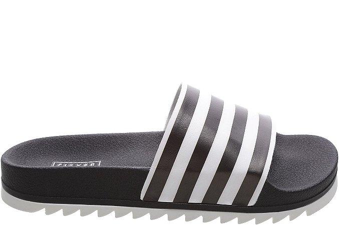 Slider Stripes Preta Sola Dentada