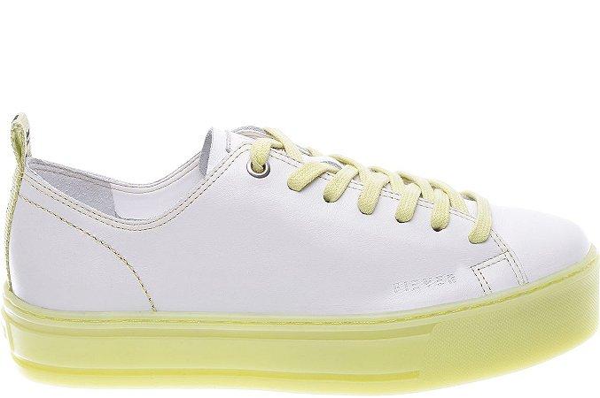 Tenis Venice Couro Marfim Sola Alta Colorida Fresh Yellow - Pré-venda