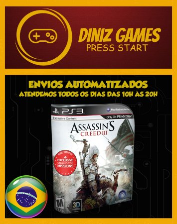 Assassins Creed 3 Psn Ps3