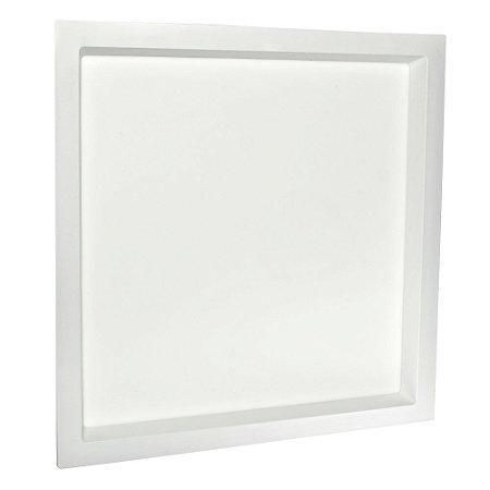 Luminária Plafon 36W LED Embutir Recuado Quadrado Branco Frio