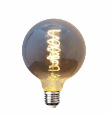 Lâmpada LED Filamento E27 5w Globo Fumê G95
