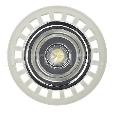 Lâmpada LED AR111 11w GU10 Branco Quente   Inmetro