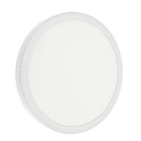Luminaria Plafon 36w LED Sobrepor Redondo Branco Frio