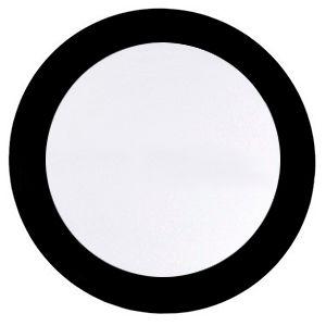 Luminária Plafon 18w LED Sobrepor Premium Branco Frio Preto
