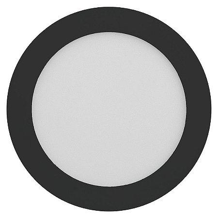 Luminária Plafon 25W LED Embutir Premium Branco Frio Preto
