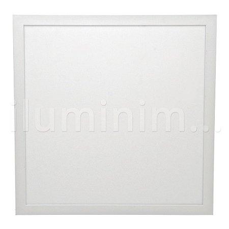 Luminária Plafon 40x40 32w LED Sobrepor Branco Quente