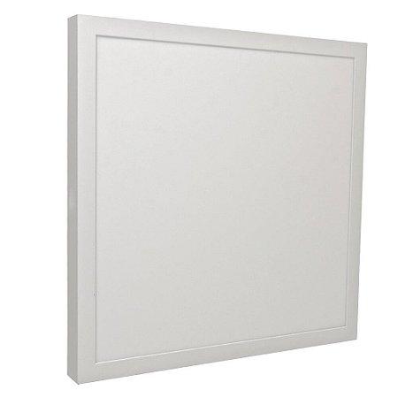 Luminária Plafon 40x40 32w LED Embutir Branco Quente