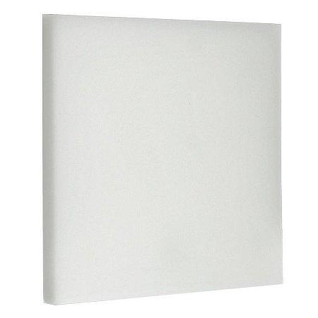 Luminária Plafon LED 18W Embutir Quadrada Branco Quente Borda Infinita