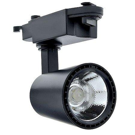 Spot LED 30W Branco Neutro para Trilho Eletrificado Preto