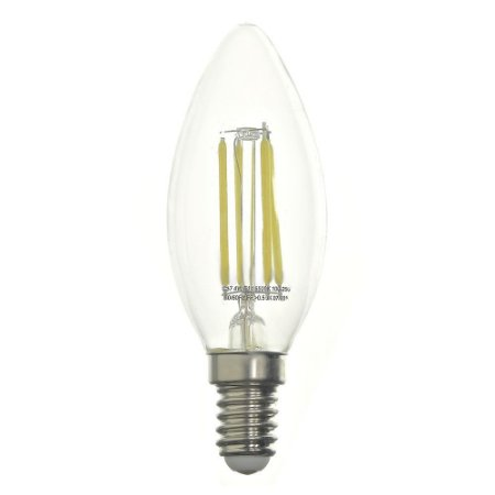 Lâmpada LED Vela Cristal E14 2W Bivolt Branco Quente   Inmetro