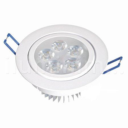Kit 10 Spot Dicróica 5w LED Direcionável Corpo Branco