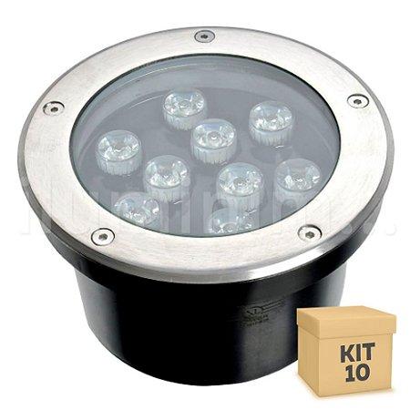 Kit 10 Spot Balizador LED 9W Verde para Piso