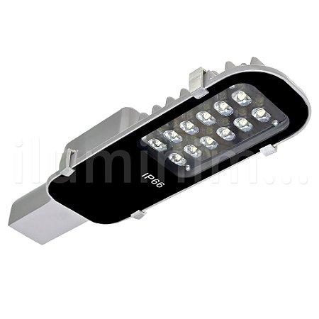Luminária Pública LED 12w Externa Para Poste - Branco Frio