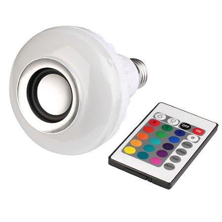 Lâmpada Led 12w Rgb com Caixa de Som Bluetooth e Controle Remoto | Inmetro
