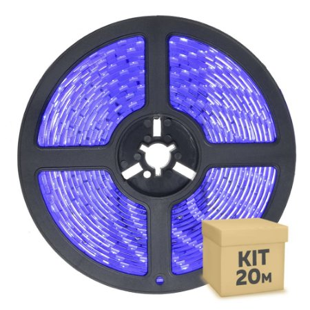 Fita LED Azul 5050 20 metros com Fonte