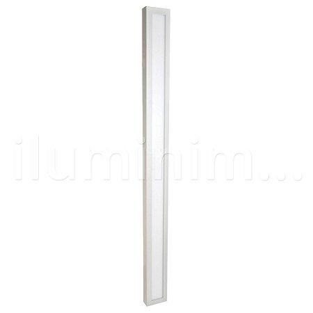 Luminária Plafon 10x120 30w LED Sobrepor Branco Frio Borda Branca