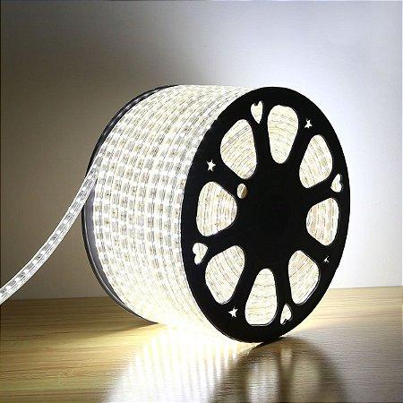 Fita LED Branco Frio 5050 100 metros Dimerizável 220v - À prova d'água