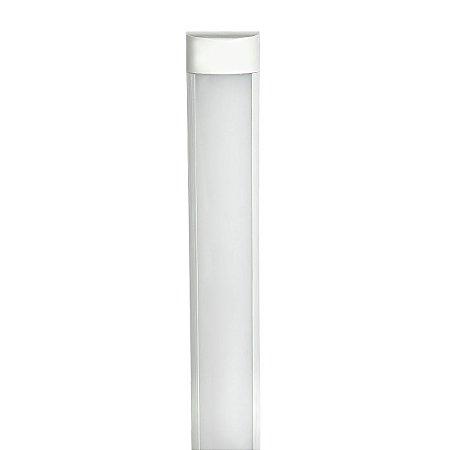 Tubular LED Sobrepor Completa 20W 60cm Branco Quente | Inmetro