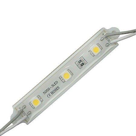 Módulo de LED 5050-SMD 3 LEDs Branco Frio