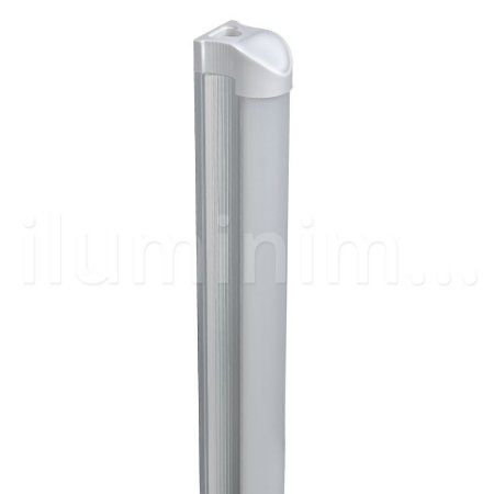 Lampada LED Tubular T8 9w 60cm c/ Calha - Branco Frio