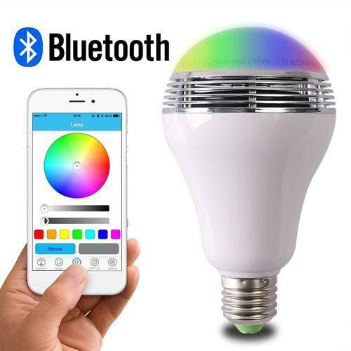 Lampada LED 7W RGB Colorida Bluetooth c/ Aplicativo