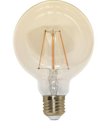 Lâmpada LED Globo Espiral Vintage 4w G125 Branco Quente   Inmetro